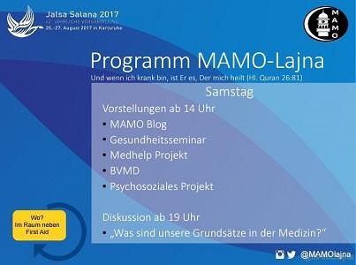 Programm der MAMO auf der Jalsa Salana