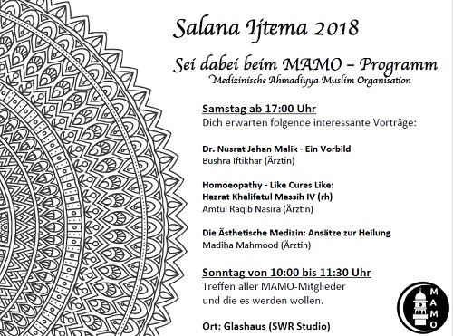 Programm der MAMO der Frauen auf dem Ijtema